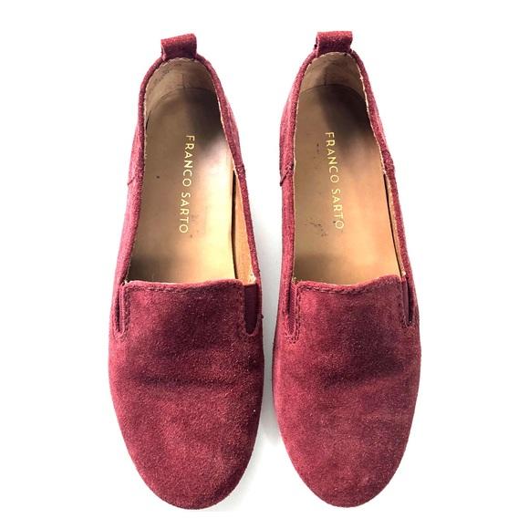 Franco Sarto Women's Size 5.5 M Casual Slip-On Loafer Purple EUC